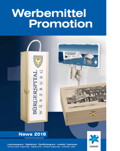 Contento Werbemittel & Promotion News 2016